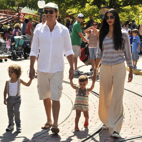 Matthew McConaughey With Levi and Vida at Disneyland Pictures