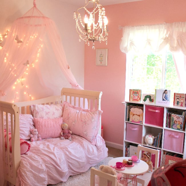 pink princess butterfly room for girls popsugar moms - Toddler Bedroom Decorating Ideas