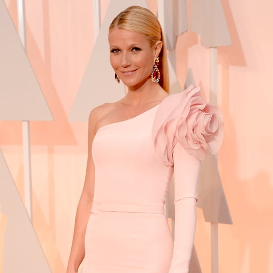 Gwyneth Paltrow's Oscars Dress and Shoulder Detail 2015