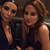 "Christine and Kim both posted the above photo to their Instagram feeds. ""The best dining partner @kimkardashian,"" Centenera wrote."