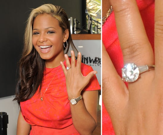 christina milian celebrity engagement ring pictures