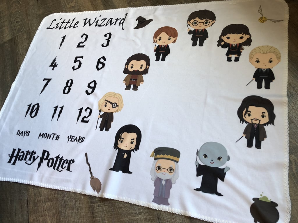Little Wizard Month Photos Blanket