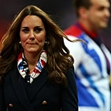 Kate Middleton wore a scarf at the Paralympics.