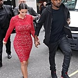 "That time Kim was all ""Lady in Red"" and Kanye was just chill."