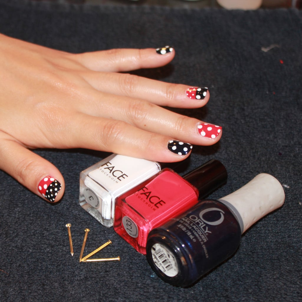 Nautical Nail Art Tutorial By Naomi Yasuda Popsugar Beauty