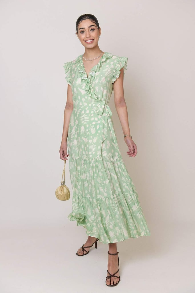 Green Bridesmaid Dress: Rixo Minnie Wrap Dress