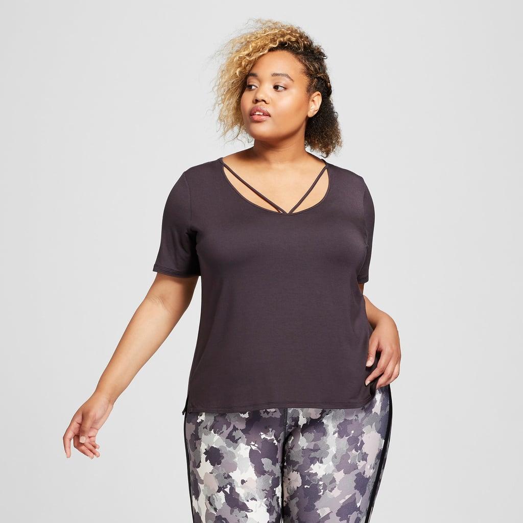 5390d5d1b39 Joy Lab Women s Plus Strappy V-Neck T-Shirt