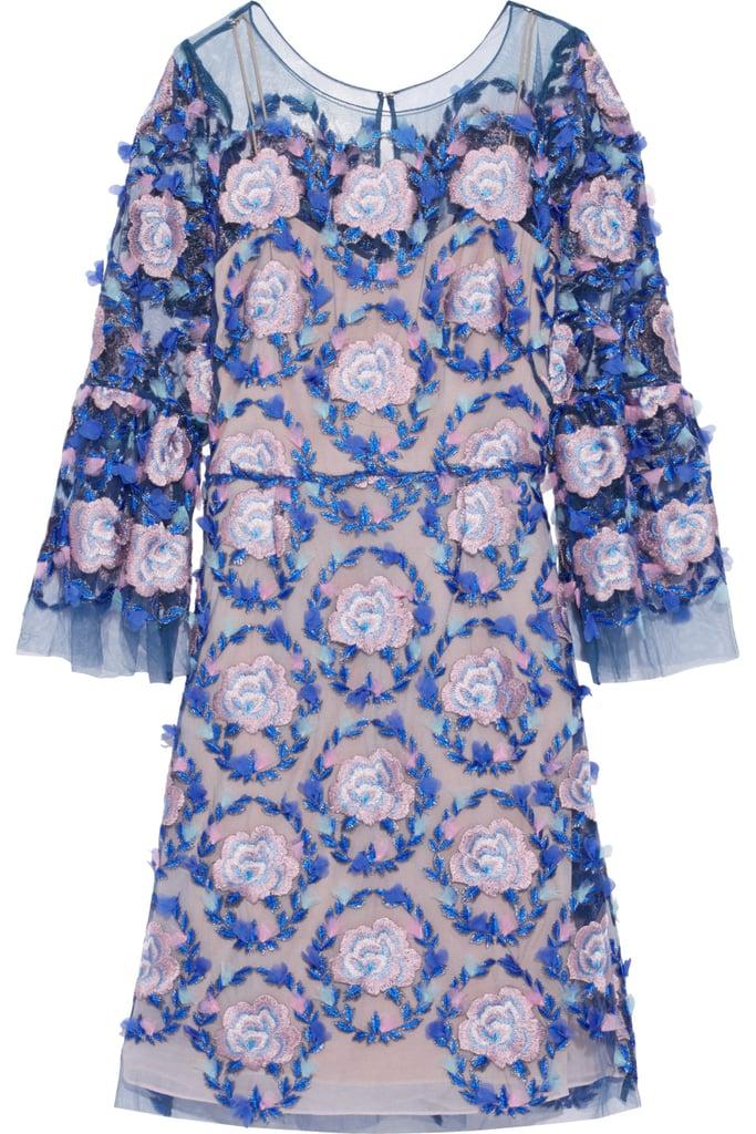 76f4a6de9e3 Marchesa Notte Appliquéd Metallic Embroidered Tulle Dress | Princess ...