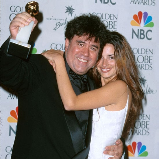 Pedro Almodovar and Penelope Cruz celebrated their win in the press room in 2000.