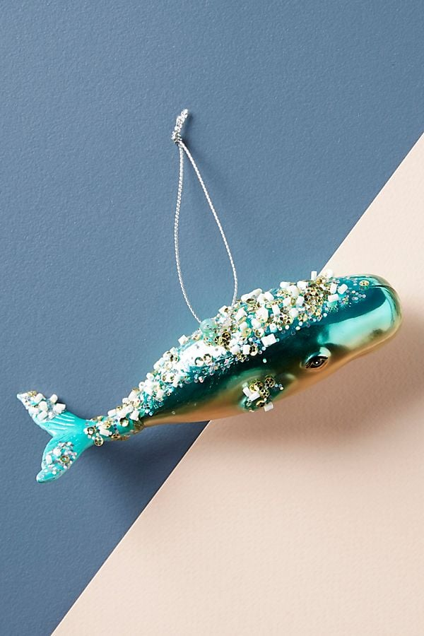 Jeweled Whale Ornament