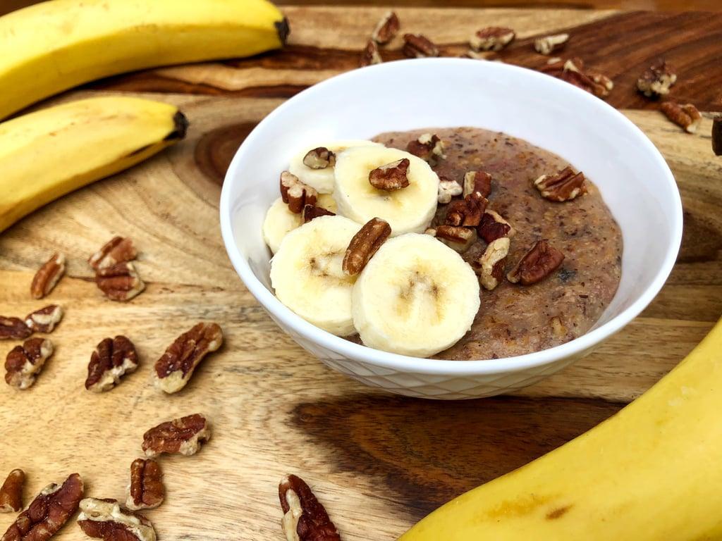 Slow Cooker Banana Steel-Cut Oatmeal | Mediterranean Diet
