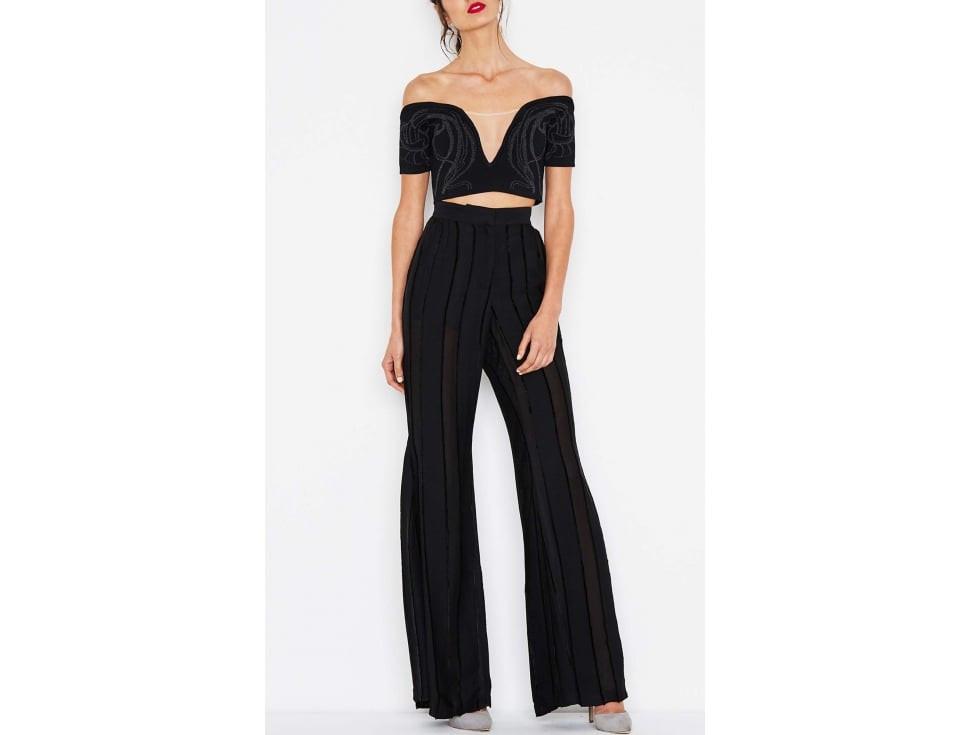 """While I'm totally saying goodbye to 'joggers,' I'm not saying goodbye to comfy-chic. While these Alice McCall Night Fever Flares ($320) have a playful and eye-catching shape to them, they also seem a lot more flexible than binding jeans. Win-win!"" — SS"