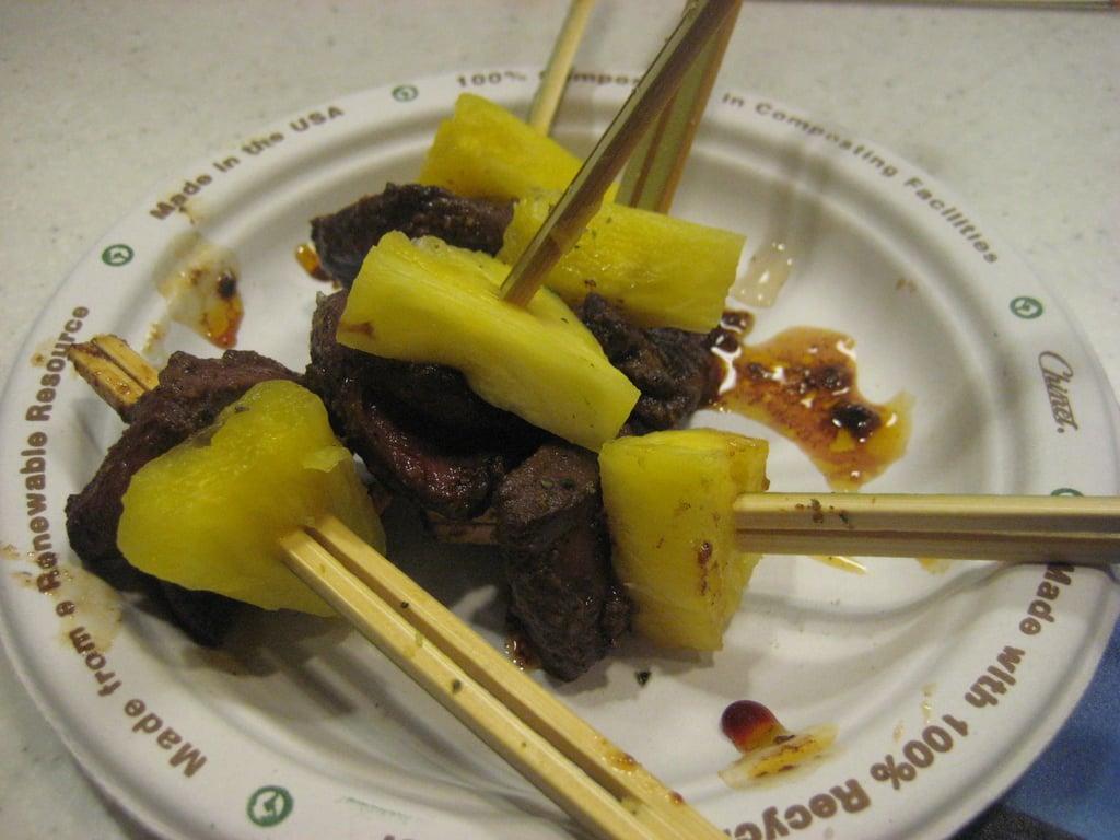 Jerk Duck Hearts With Pineapple