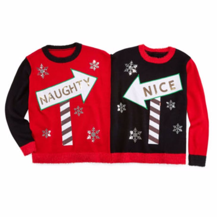 naughty and nice two person christmas sweater - Nordstrom Christmas Sweaters