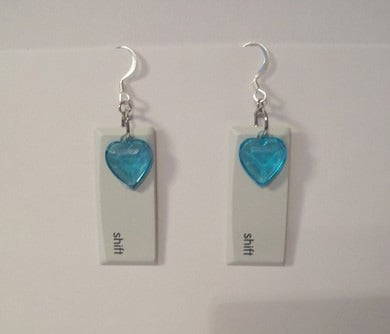 Shift Key Earrings: Perfect For a Geeky Tween