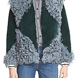 Tory Burch Bristol Colorblock Genuine Shearling Jacket ($1,595)