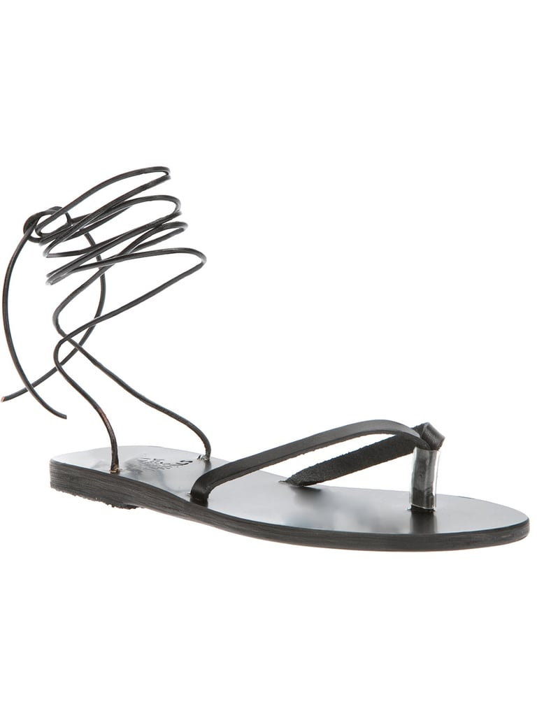 Simple Ancient Greek Sandals (£110) are primed for vacation or real life.