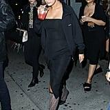 Selena Gomez Black Dress and Fendi Knee Socks
