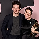 Josh O'Connor and Olivia Colman