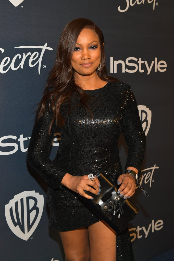 Garcelle Beauvais's Glitter Manicure at the 2020 Golden Globes