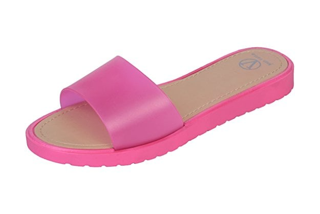 8b280273dd63e Joan Vass Jelly Slide Sandals with Hard Sole   Best Summer Shoes ...