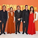 Brad Pitt, Margot Robbie, Leonardo DiCaprio, Quentin Tarantino, and Daniella Pick at the UK premiere of Once Upon a Time in Hollywood.