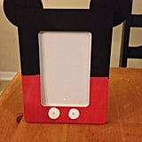 Hand-Painted Mickey Mouse Inspired Wooden Picture Frame