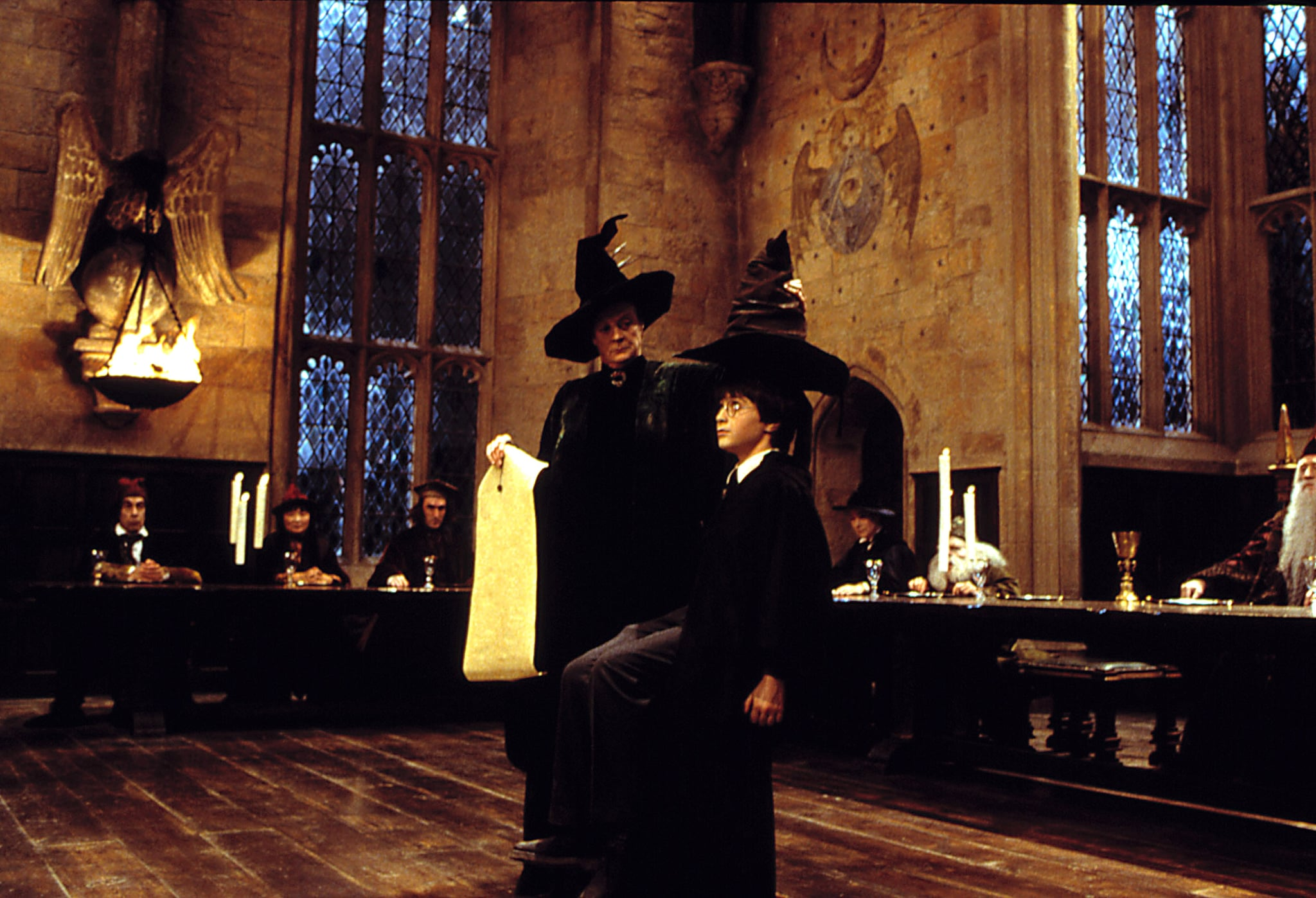 HARRY POTTER AND THE SORCERER'S STONE, Maggie Smith, Daniel Radcliffe, 2001.
