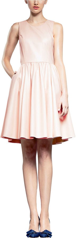 Pink Tartan sleeveless light-pink dress ($345)