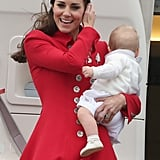 Kate Middleton and Prince William Start Tour With George