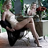 Charlize Theron struck a sensual pose in front of the mirror for the January 2012 issue of Elle France.