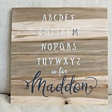 Personalized Alphabet Name Sign