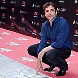 Javier Bardem touched his own star.