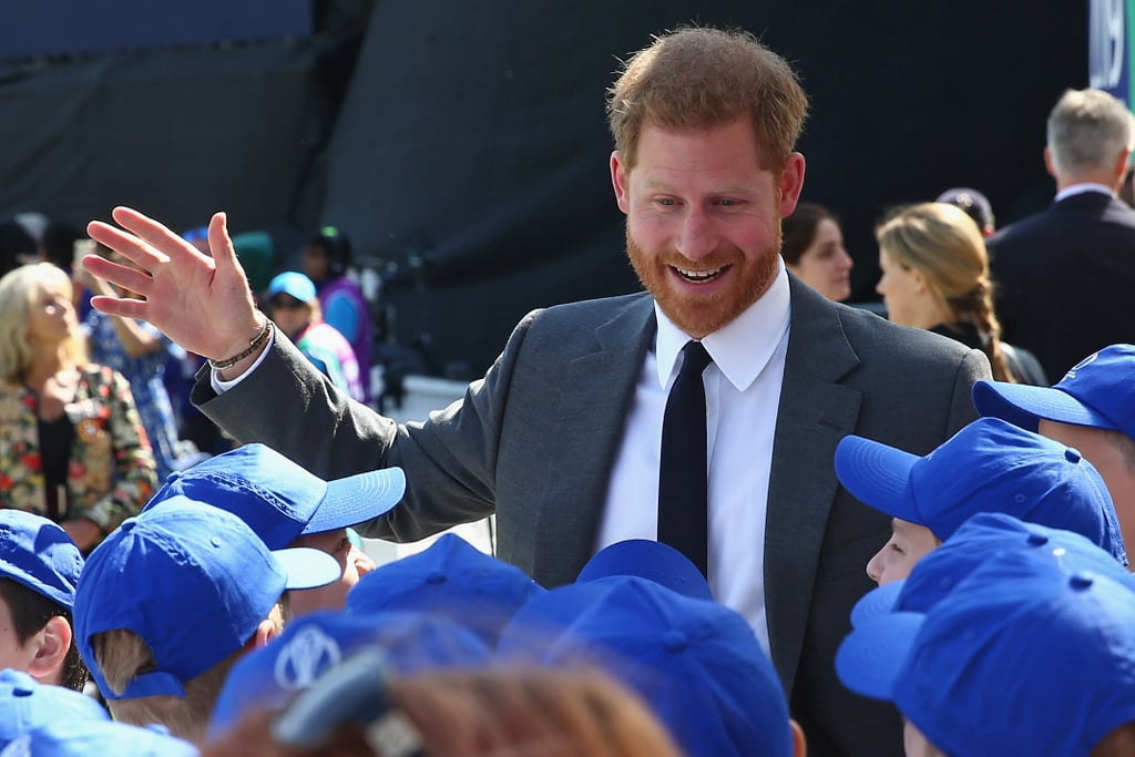 """Prince Harry officially opened the ICC Cricket World Cup at the Oval in London on Thursday morning, marking the beginning of what he described as """"a brilliant six weeks of sport."""" In his short speech, Avid sports fan Harry paid tribute to the 10 teams taking part in the tournament, who he claimed, """"thanks to the UK's cultural diversity, will feel as though they are competing in front of a home crowd every time they take to the field.""""      Related:                                                                                                           These Photos of Prince Harry Playing Polo Suddenly Gave Me the Urge to Learn to Ride a Horse               Though Harry's trip to the iconic London cricket ground included a number of memorable moments, his face really lit up when he was meeting the young flag bearers who took part in the opening ceremony, and when he stood in the stands with a group of kids. It seems like being a dad has only increased Harry's love of spending time with little ones. Keep reading to see Harry in his element once again."""