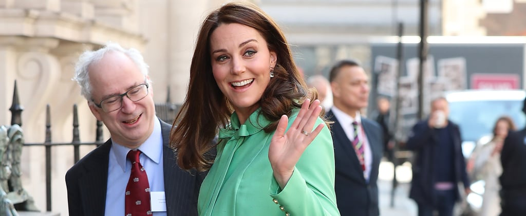 Kate Middleton Took the Arrival of Spring Quite Literally as She Stepped Out in Bright Green