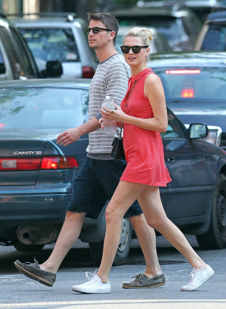 Josh Hartnett and his girlfriend, Sophia Lie, took a walk in NYC's West Village on Friday afternoon. The duo were together to kick off their Memorial Day adventures, which actually started on Thursday evening at the Museo de Barrio's gala in honor of photographer Mario Testino. She and Josh rubbed shoulders with stars like Kate Winslet, Anna Wintour, and Mario himself at the event, where Sophia was one of the many models on hand. Josh will likely have to leave the good times in the Big Apple behind, though, when he starts production on his next film Dark Star Hollow.