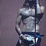Jared Leto's Shirtless Crotch Grab