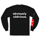 obviously oblivious. l/s shirt