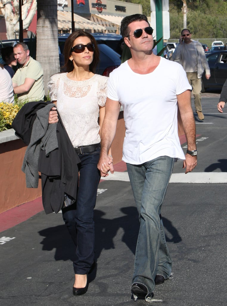 Photos of Simon Cowell and Mezghan Hussainy Out in LA