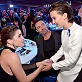 Emma Watson, Hugh Jackman, and Millie Bobby Brown