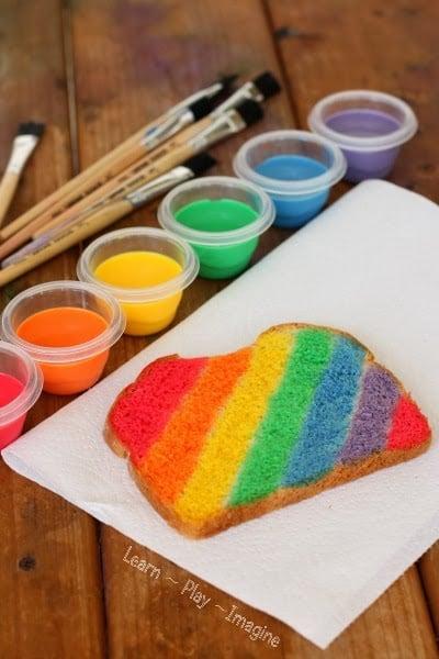 Rainbow Toast