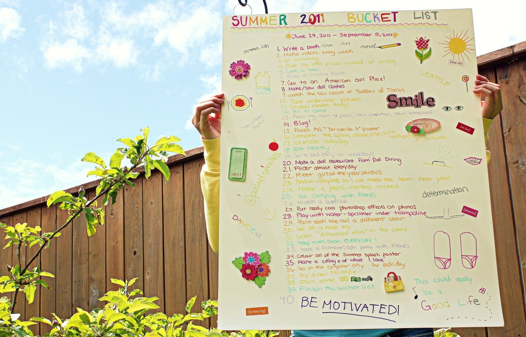 Create a Summer Bucket List.