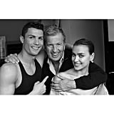 With famed photographer Mario Testino, ahead of their Vogue shoot last year.