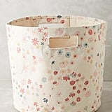 Anthropologie Petaled Canvas Storage Bin