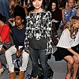 Christina Ricci had a front-row seat for Thursday's Richard Chai show.