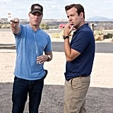 Director Rawson Marshall Thurber with Jason Sudeikis on the set of We're the Millers.