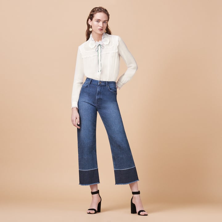 Maje Jeans With Fringing