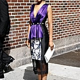 There's something about Kerry Washington in Prabal Gurung's gorgeous bright purple.