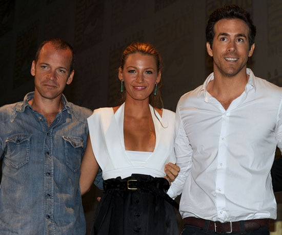 Slide Picture of Ryan Reynolds at Comic Con With Blake Lively and Peter Sarsgaard
