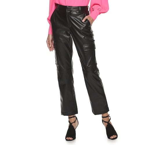 Apt. 9 x Cara Santana Faux Leather Cargo Pants